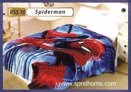toko grosir Selimut Rossinni Spiderman