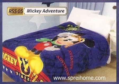 toko grosir Selimut Rossinni Mickey Adventure