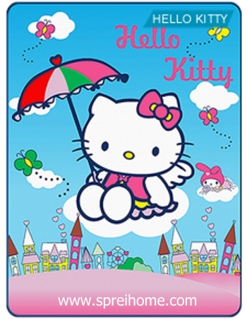 Jual grosir murah  Selimut Kintakun Hello Kitty