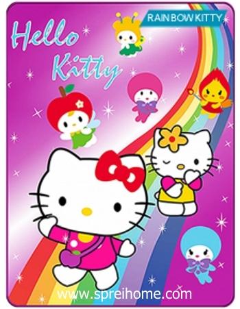 Jual grosir murah  Selimut Kintakun Rainbow Kitty