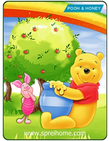 Jual grosir murah  Selimut Kintakun Pooh Honey