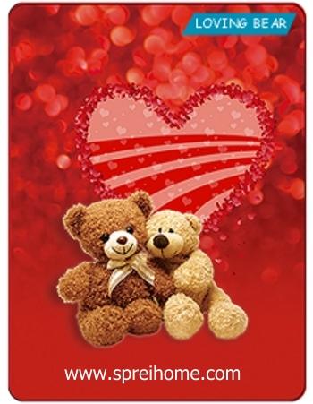 Jual grosir murah  Selimut Kintakun Loving Bear