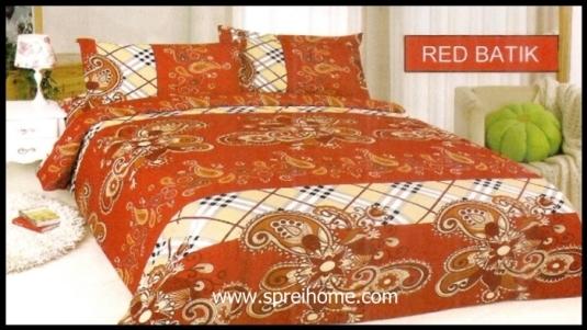 jual grosir Sprei Bonita Batik Red