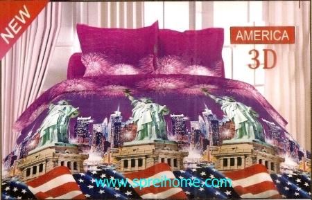 jual sprei bedcover Bonita 3D Amerika