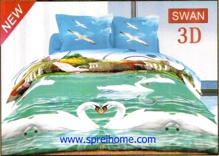 jual sprei bedcover Bonita 3D Swan