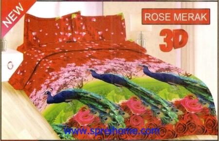 jual sprei bedcover Bonita 3D Rose Merak