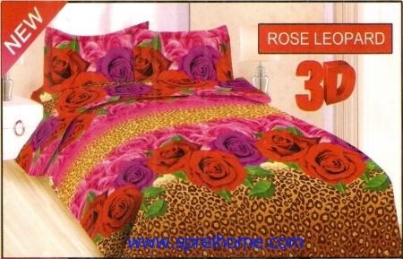 jual sprei bedcover Bonita 3D Rose Leopard