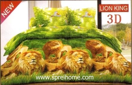 jual sprei bedcover Bonita 3D Lion King