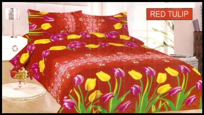 toko online Sprei Bonita Red Tulip