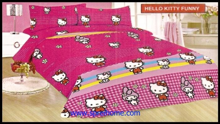 jual grosir Sprei Bonita Hello Kitty Funny