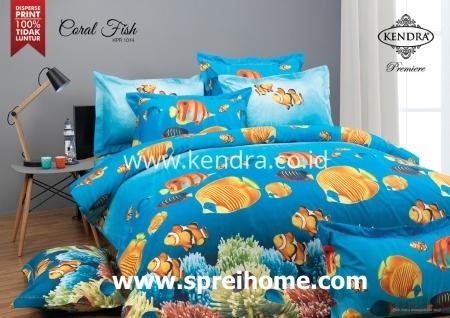 jual online grosir Sprei Kendra CORAL-FISH