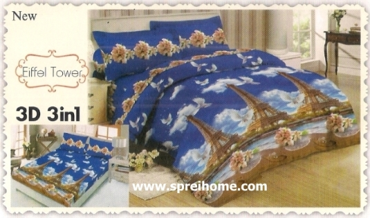 jual beli online Sprei Lady Rose 3D Eiffle Tower