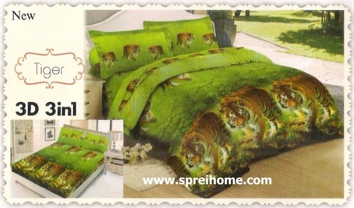 jual beli online Sprei Lady Rose 3D Tiger