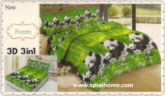 jual beli online Sprei Lady Rose 3D Panda