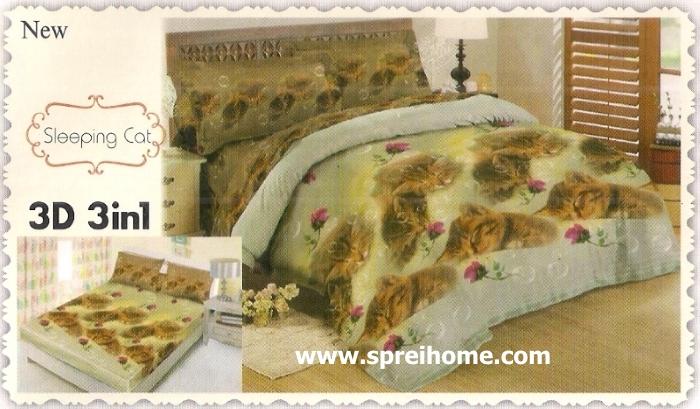 jual beli online Sprei Lady Rose 3D Sleeping Cat