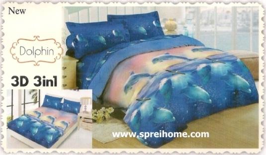 jual beli online Sprei Lady Rose 3D Dolphin