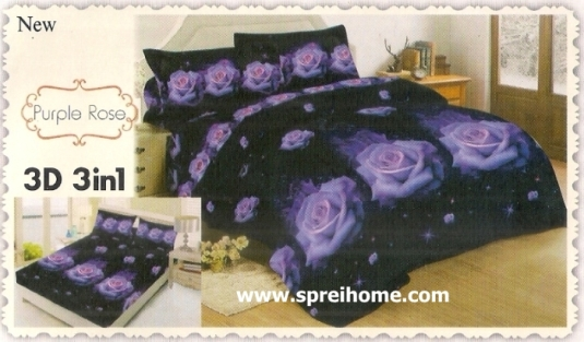 jual beli online Sprei Lady Rose 3D Purple Rose