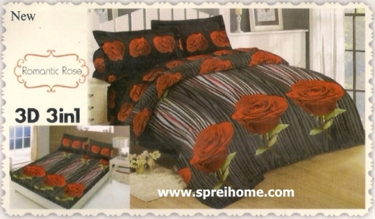 jual beli online Sprei Lady Rose 3D Romantic Rose