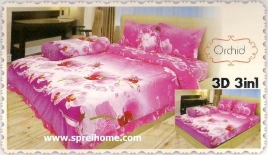 jual beli online Sprei Lady Rose 3D Orchid