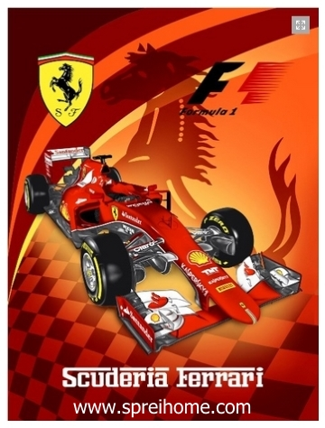 grosir gudang Selimut Rosanna Panel Ferrari
