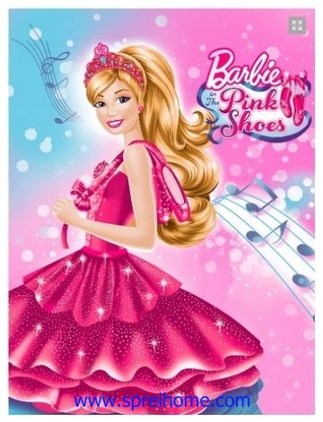 grosir gudang Selimut Rosanna Panel Barbie Shoes