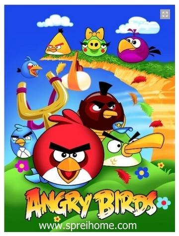 grosir gudang Selimut Rosanna Panel New Angry Birds