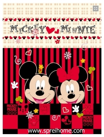 grosir gudang Selimut Rosanna Panel mickey minnie