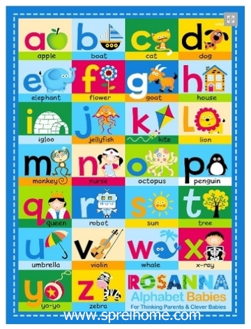 grosir gudang Selimut Rosanna Panel alfabeth