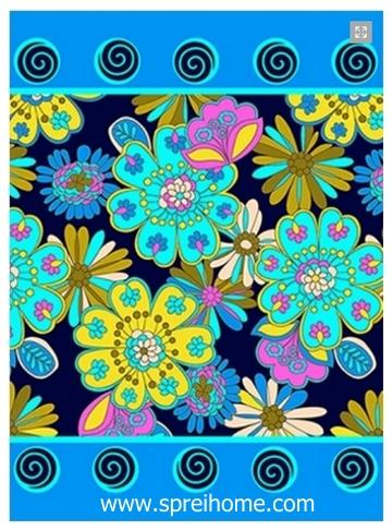 grosir gudang Selimut Rosanna Panel bunga dekoratif