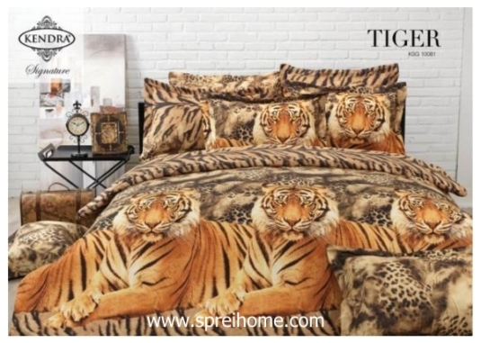 jual online sprei bedcover kendra signature Tiger