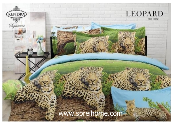 jual online sprei bedcover kendra signature Leopard