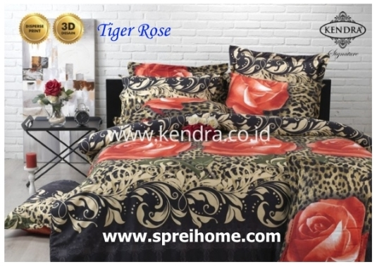 jual online sprei bedcover kendra signature tiger rose