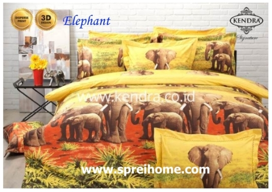 jual online sprei bedcover kendra signature Elephant