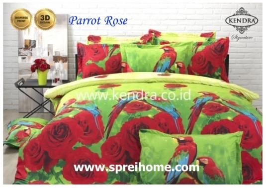 jual online sprei bedcover kendra signature parrot rose