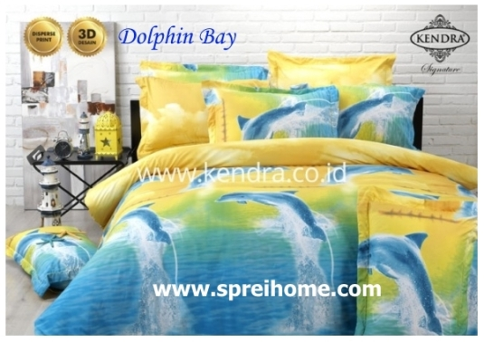 jual online sprei bedcover kendra signature dolphin bay