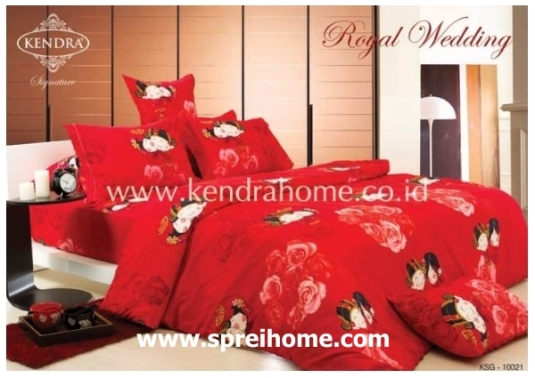 jual online sprei bedcover kendra signature Royal Wedding