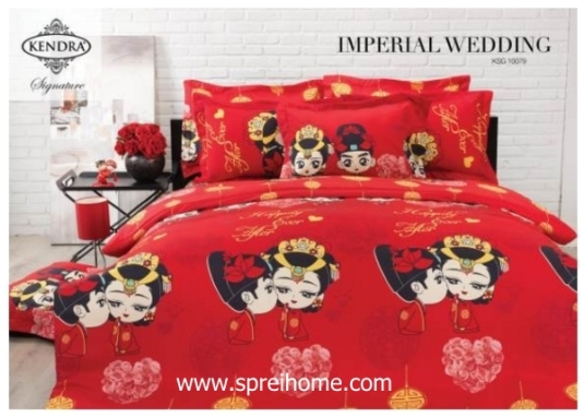 jual online sprei bedcover kendra signature Imperial Wedding