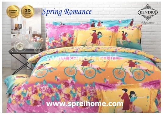 jual online sprei bedcover kendra signature Spring Romance