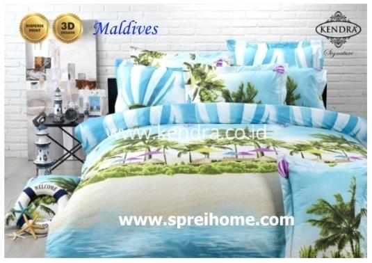 jual online sprei bedcover kendra signature maldives