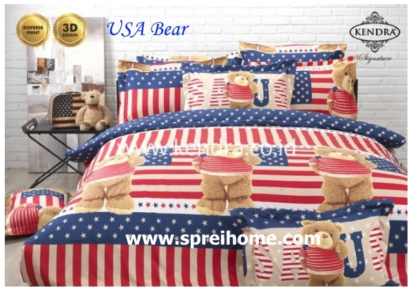 jual online sprei bedcover kendra signature usa bear