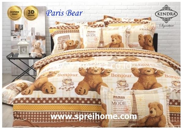 jual online sprei bedcover kendra signature paris bear