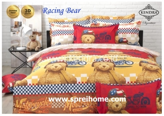 jual online sprei bedcover kendra signature Racing Bear