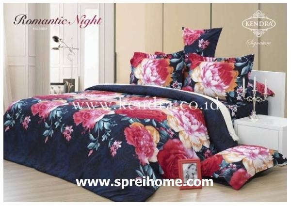 jual online sprei bedcover kendra signature romantic night
