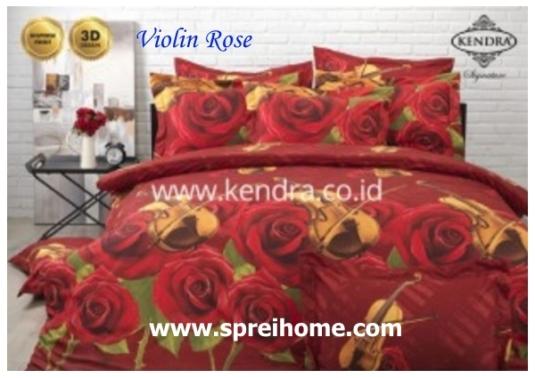 jual online sprei bedcover kendra signature Violin Rose