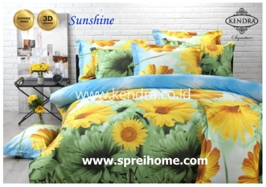 jual online sprei bedcover kendra signature sunshine