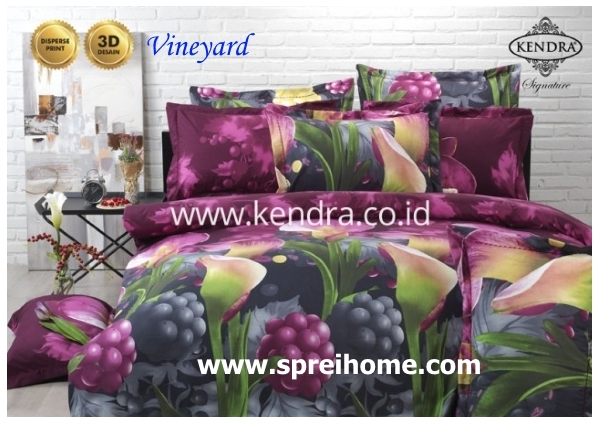 jual online sprei bedcover kendra signature vineyard