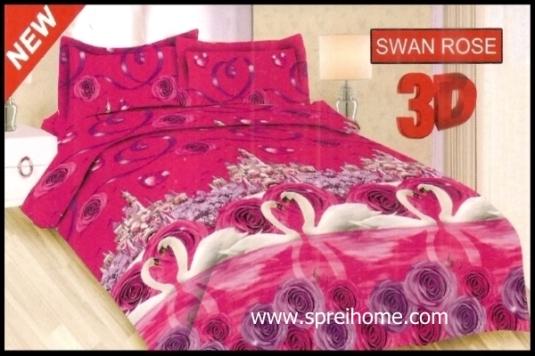 jual murah Sprei Bonita 3D Swan Rose