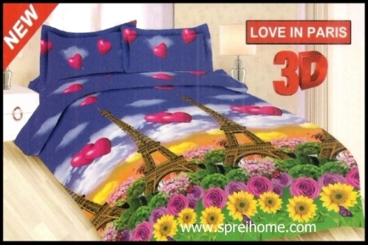 jual murah Sprei Bonita Love in Paris