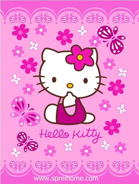 jual grosir murah selimut bayi rosanna Kitty-Flower