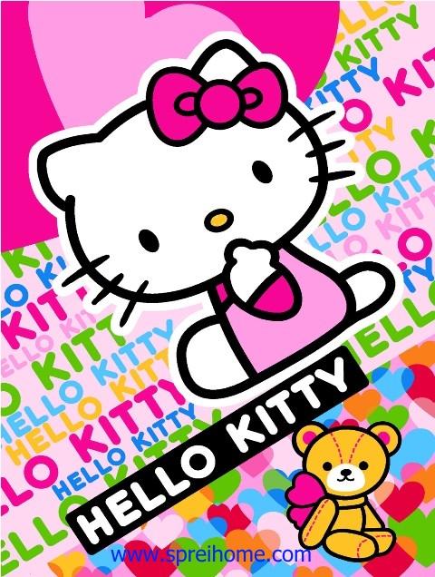 jual grosir murah selimut bayi rosanna Kitty-Love1